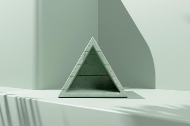 3d hout rendering minimalistisch podium