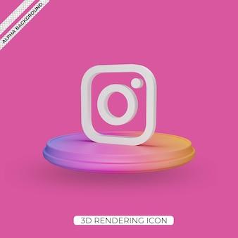 3d icono de renderizado de instagram