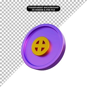 3d illustratie astrologische planeet teken aarde op munt