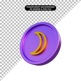 3d illustratie astrologische planeet teken maan op munt