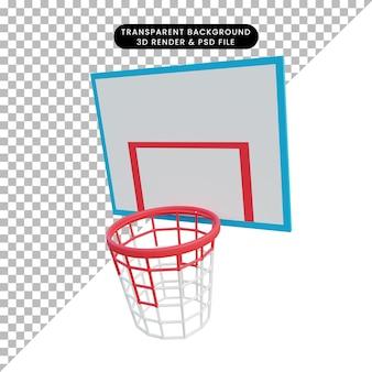 3d illustratie basketbalring