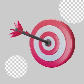 3d illustratie. bedrijfsstrategie succes doeldoelen