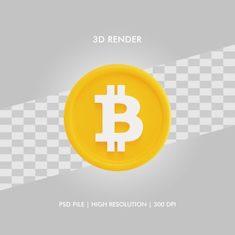 3d illustratie bitcoin