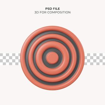 3d illustratie bord doelpictogram premium psd