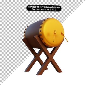 3d illustratie drum islamitisch