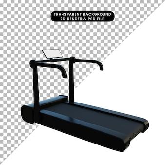 3d illustratie eenvoudig object sport loopband