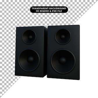 3d illustratie eenvoudige object luidspreker