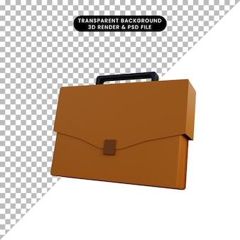 3d illustratie eenvoudige object werktas