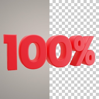 3d illustratie korting 100 procent
