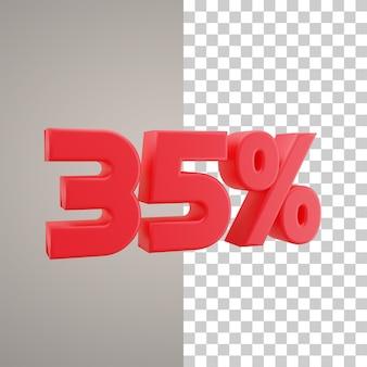 3d illustratie korting 35 procent