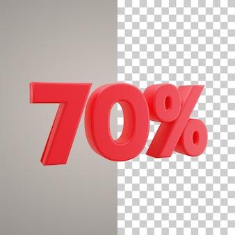 3d illustratie korting 70 procent