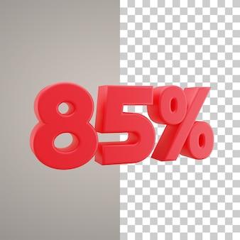 3d illustratie korting 85 procent