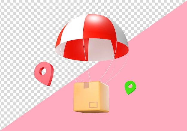3d illustratie leveringsdoos