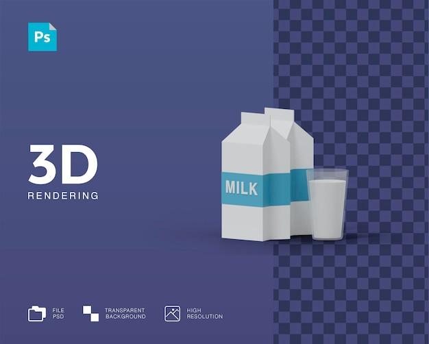 3d illustratie melk