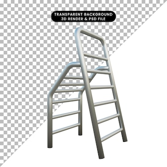 3d illustratie object ladderconstructie