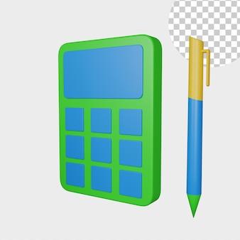 3d illustratie rekenmachine icoon