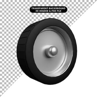3d illustratie van auto-onderdelen spullen band