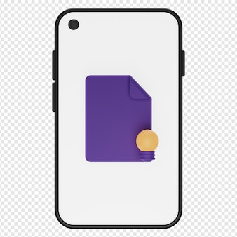 3d illustratie van concept in smartphonepictogram psd
