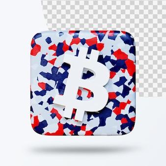 3d illustratie van cryptocurrency-symboollogo