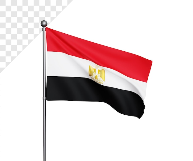 3d illustratie van de vlag van egypte