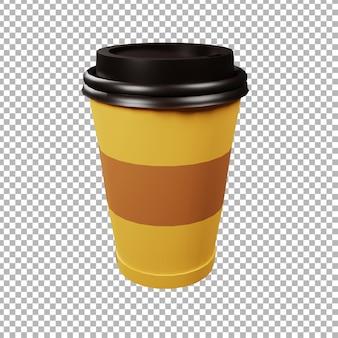 3d illustratie van een koffiekop