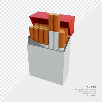 3d illustratie van een pakje sigaretten