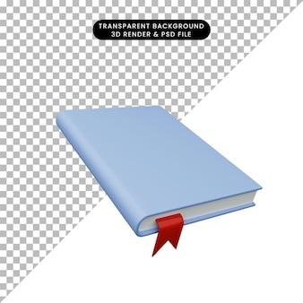 3d illustratie van eenvoudig boek