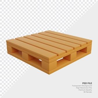 3d illustratie van eenvoudig objectpallet