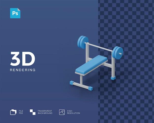 3d illustratie van fitnessapparatuur