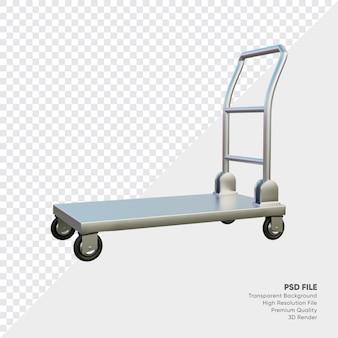 3d illustratie van realistische industriële trolley