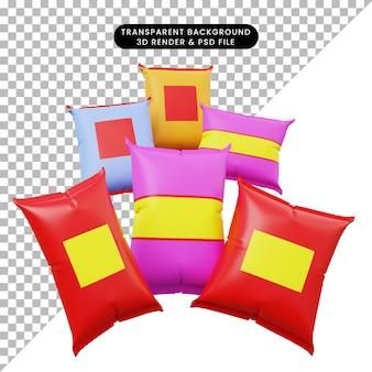 3d illustratie van snack