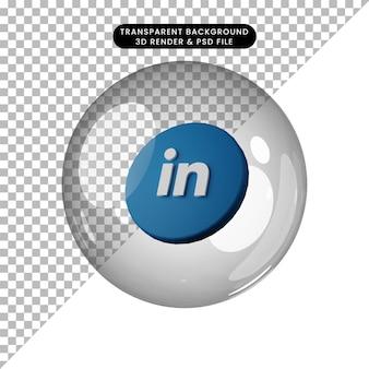 3d illustratie van social media icoon gelinkt in