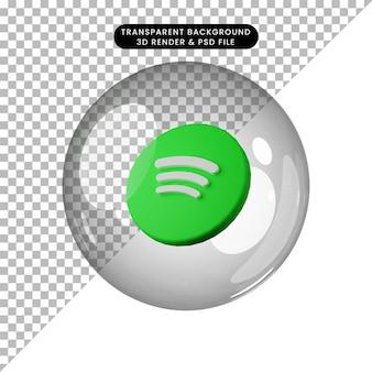 3d illustratie van social media icoon spotify