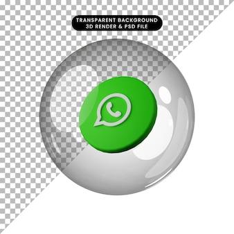 3d illustratie van social media icoon whatsapp