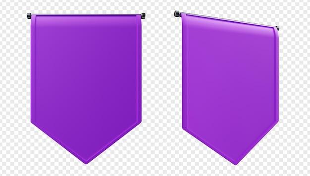 3d illustratie van verticale koninklijke vlaggen geïsoleerd
