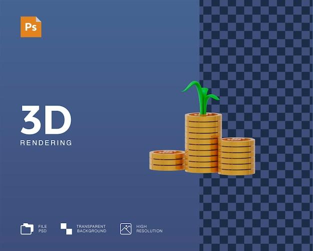3d illustratie van winstgeld