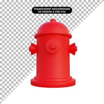 3d illustratie watervoorziening hydrant
