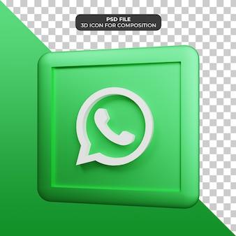 3d illustratie whatsapp-pictogram