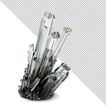 3d illustrazione di cristallo 3d'illustrazione