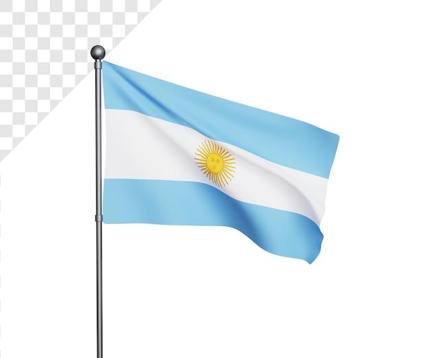 3d ilustración de la bandera argentina