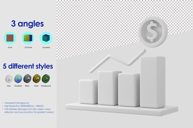 3d-infographic staafpictogram