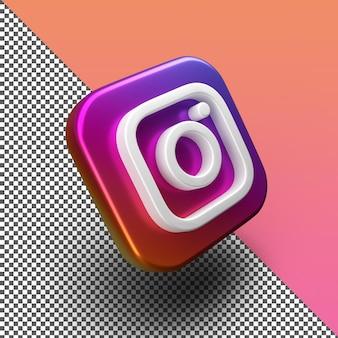 3d instagram app icon rendering