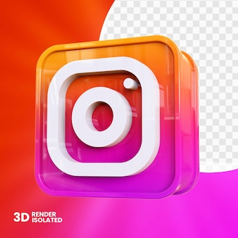 3d instagram app knop ontwerp
