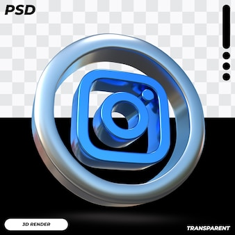 3d instagram pictogram Premium Psd