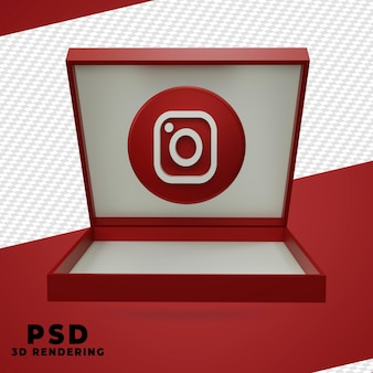 3d instagram teruggevend ontwerp geïsoleerd