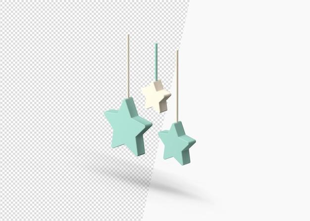 3d-islamitische decoratie ster ontwerp