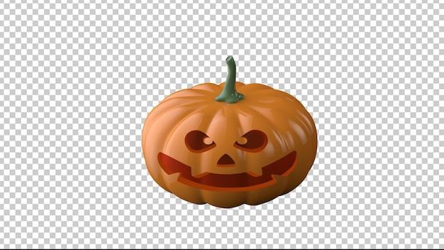 3d jack o-lantaarn halloween-pompoen op een transparante achtergrond
