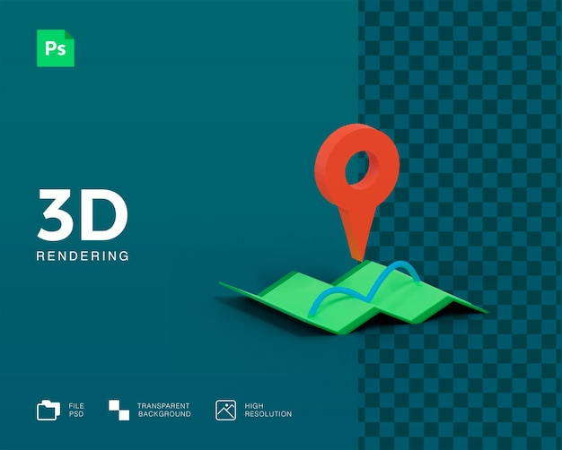 3d-kaartpictogram