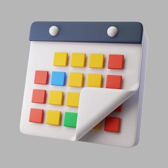 3d-kalender voor de organisatie