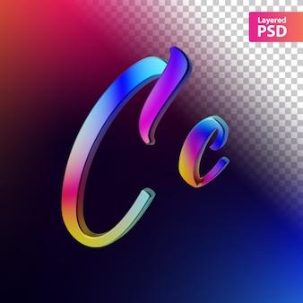 3d kalligrafische regenboog kleur letter